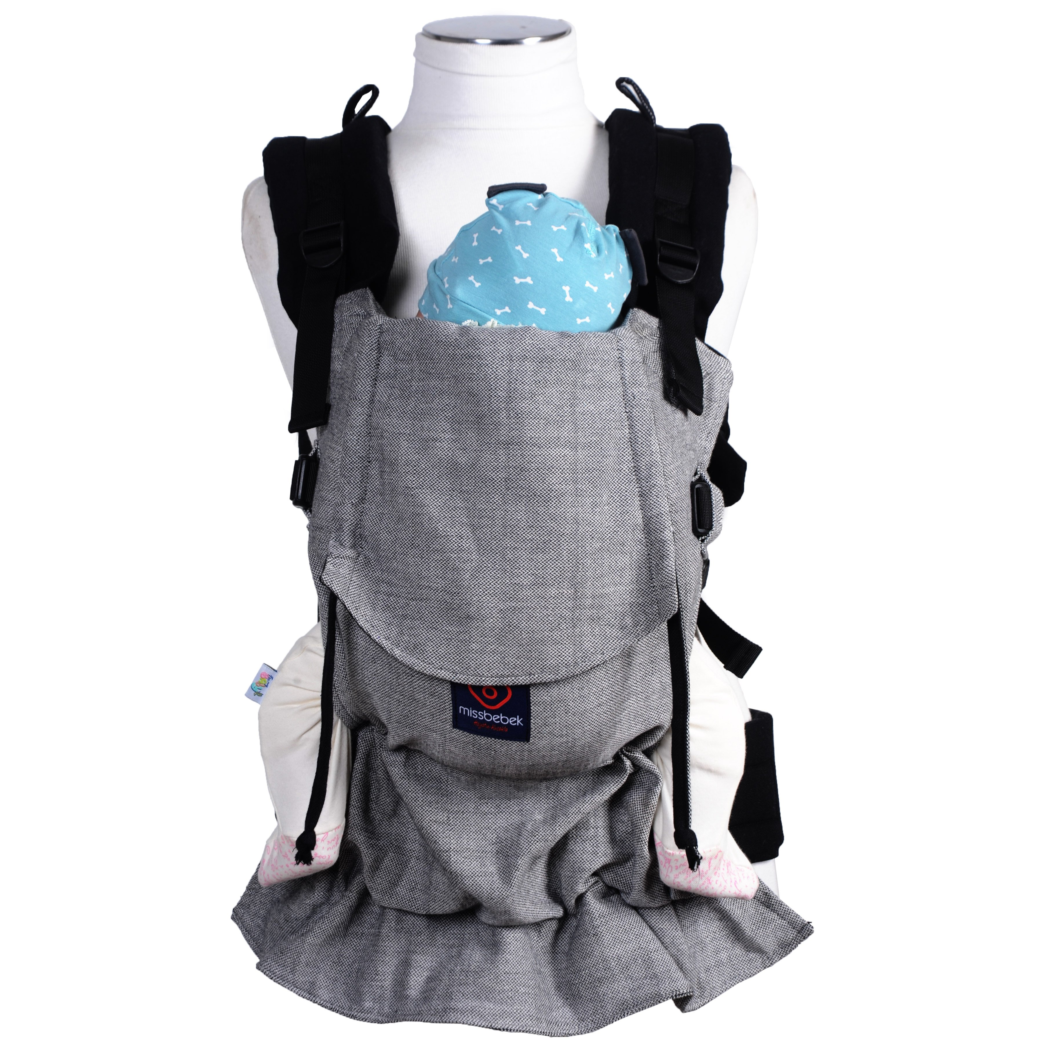 MissBebek Ergonomik Babycarrier / Bebek Taşıyıcı / Ergonomik Kanguru / Bebek Taşıma – Tulum