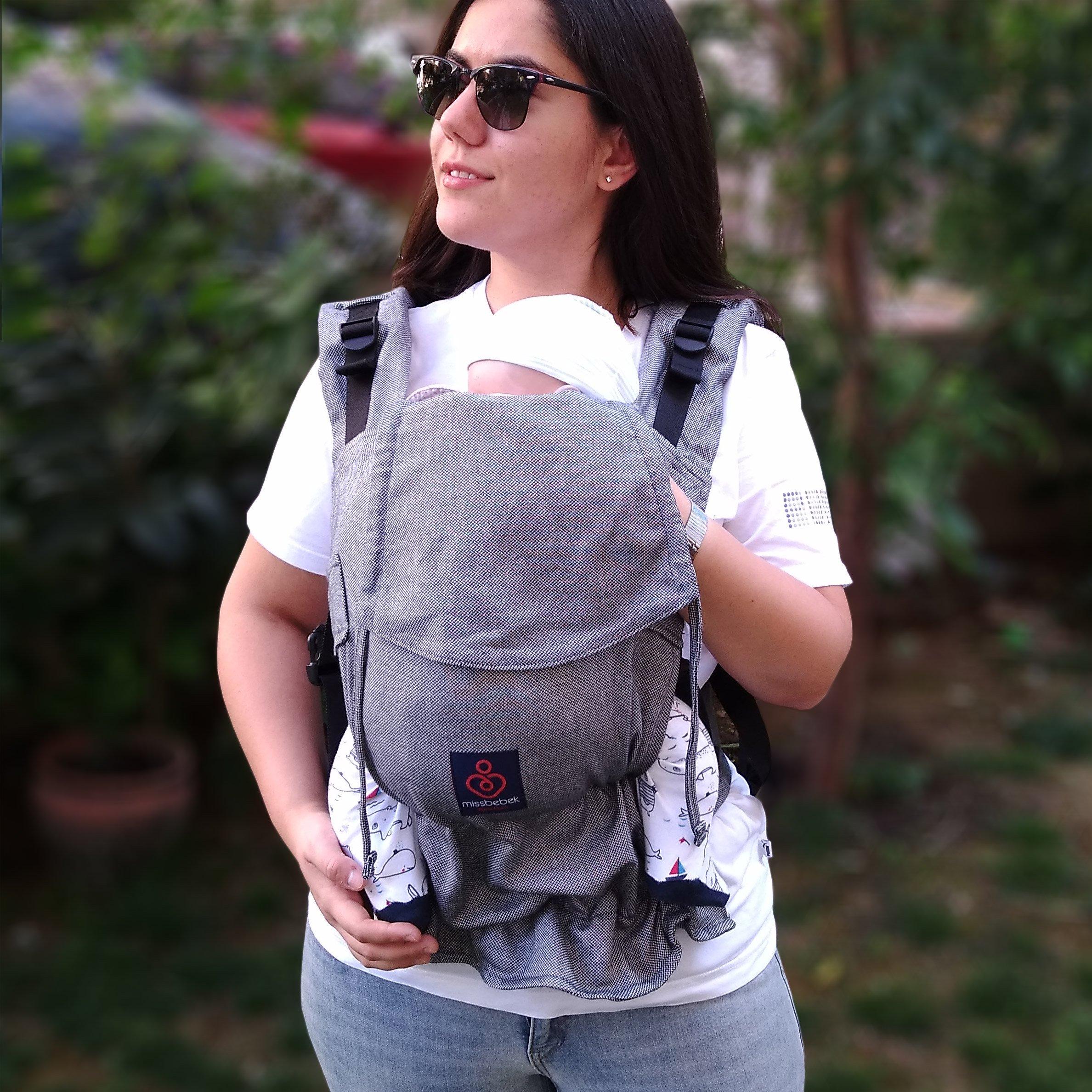 MissBebek Ergonomik Babycarrier / Bebek Taşıyıcı / Ergonomik Kanguru / Bebek Taşıma – All Tulum