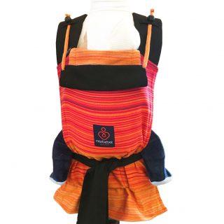 MissBebek Mei Tai Bebek Taşıyıcı / Ergonomik Kanguru / Bebek Taşıma – Firework Red