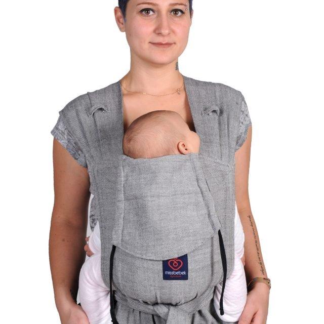 MissBebek Wrap Tai Bebek Taşıyıcı / Ergonomik Kanguru / Bebek Taşıma – Tulum